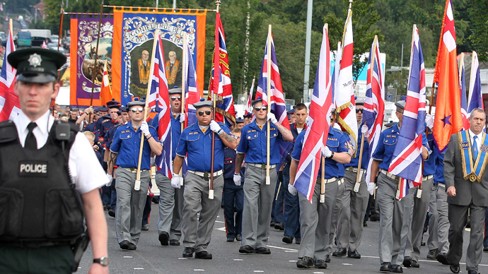 Belfast police reinforced on violence fears during Orangefest
