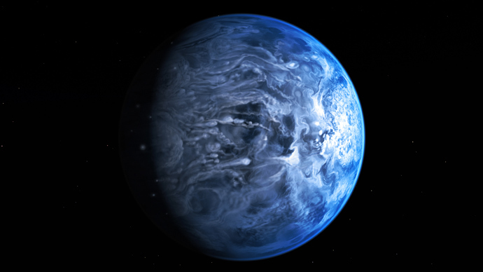 Unearthly blue: Scientists reveal color of planet 63 light years away