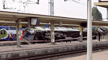 One dead, dozens injured as two trains collide head-on in Switzerland