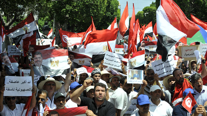Tens of thousands of Tunisians rally against Islamist govt (VIDEO)