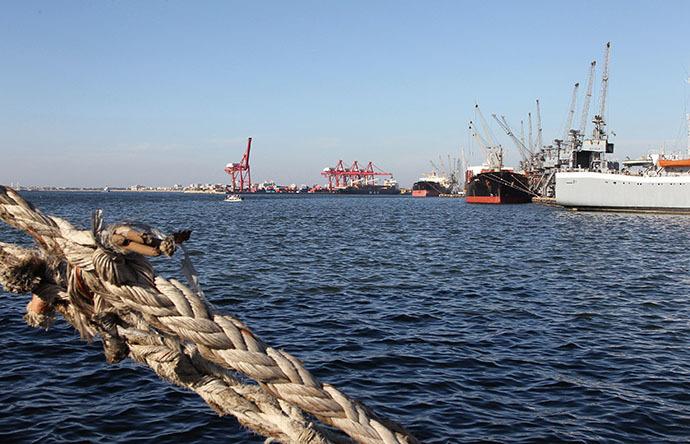 A general view of the port of Syria's Mediterranean city of Latakia (Reuters / Khaled Al Hariri)