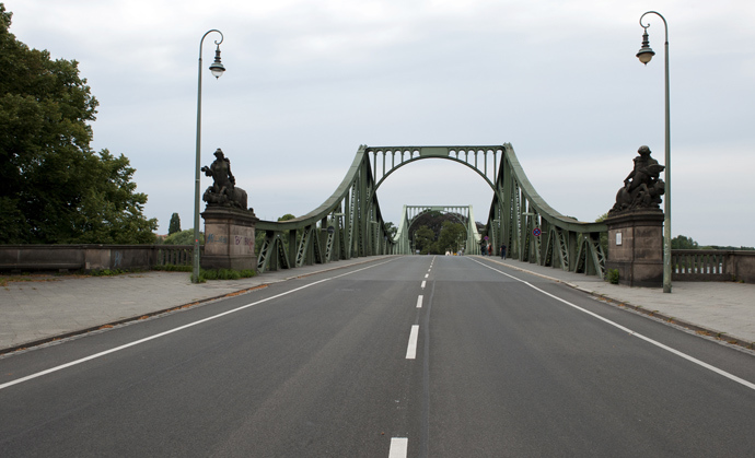 The Glienicker Bruecke bridge, which became famous as site of an exchange of spies between the United States and Eastern powers. (AFP Photo)