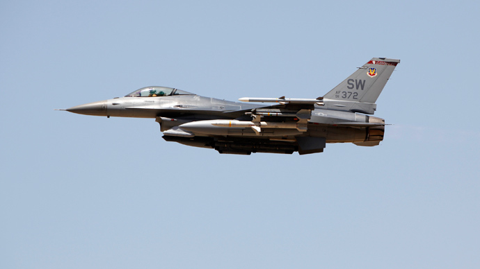A U.S. Air Force F-16CJ Fighting Falcon jet (Reuters)