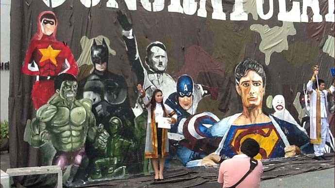 Hitler Superhero: Thai university apologizes for scandalous billboard