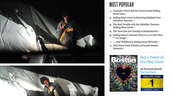 'Face of terror': Boston sgt suspended over leak of Tsarnaev's arrest photos