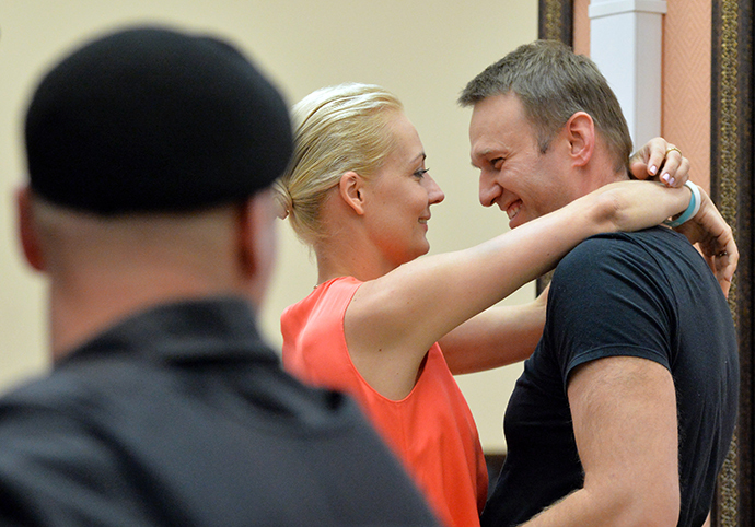 Alexei Navalny and his wife Yulia (RIA Novosti / Ilya Pitalev)