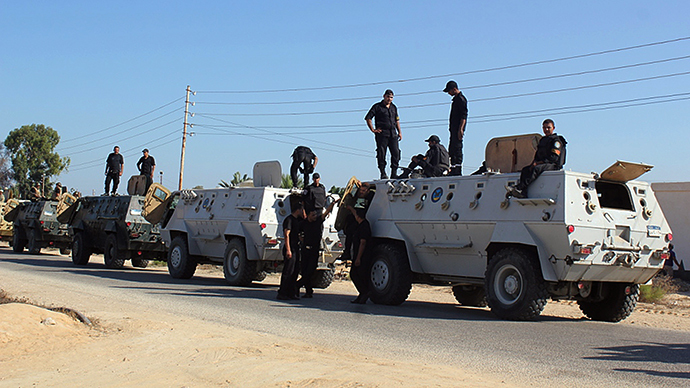 Egyptian security forces (AFP Photo)
