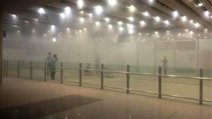 Wheelchair user blasts Beijing airport, injures himself