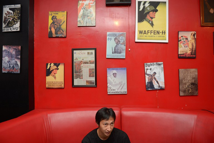 "Inside the Soldatenkaffe ""The Soldiers' Cafe"" in Bandung. (AFP Photo / Adek Berry)"