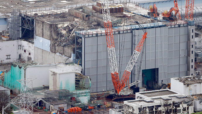 An aerial view shows the No.3 reactor building at Tokyo Electric Power Co. (TEPCO)'s tsunami-crippled Fukushima Daiichi nuclear power plant in Fukushima Prefecture, in this photo taken by Kyodo July 18, 2013.(Reuters / Kyodo)