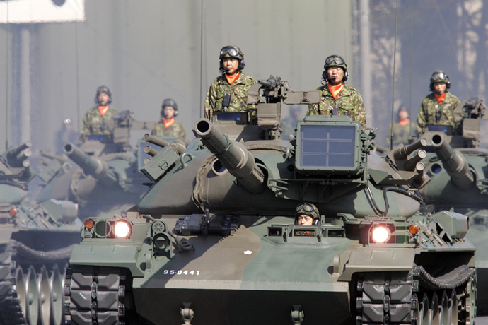 Japanese Ground Self Defence Force's tank unit (AFP Photo / Yoshikazu Tsuno)