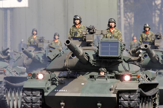 Japanese Ground Self Defence Force's tank unit (AFP Photo / Yoshikazu Tsuno)