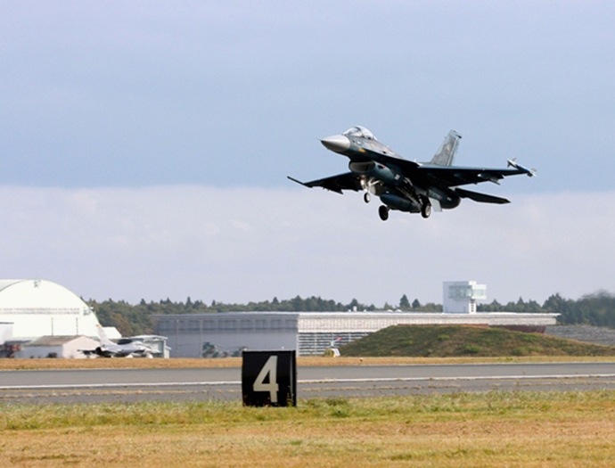 A Japan Air Self-Defence Force's F-2 fighter jet (Reuters)