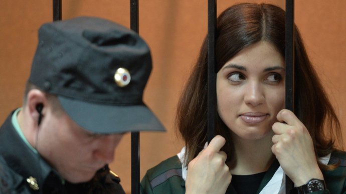 Jailed Pussy Riot member goes on hunger strike to protest against 'slave labor'