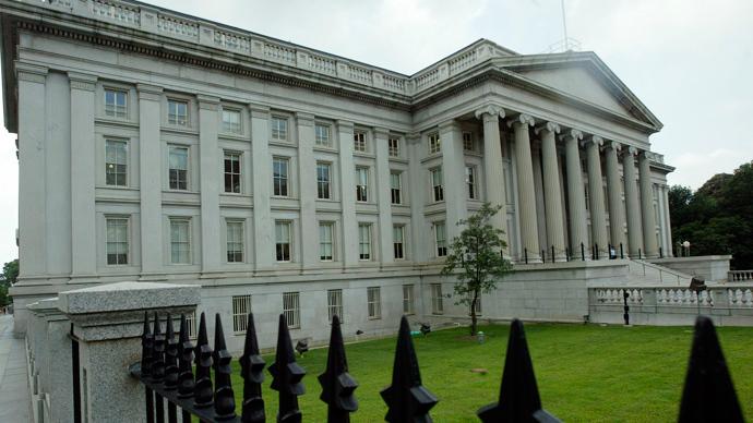 US Treasury Building in Washington, DC (AFP Photo)