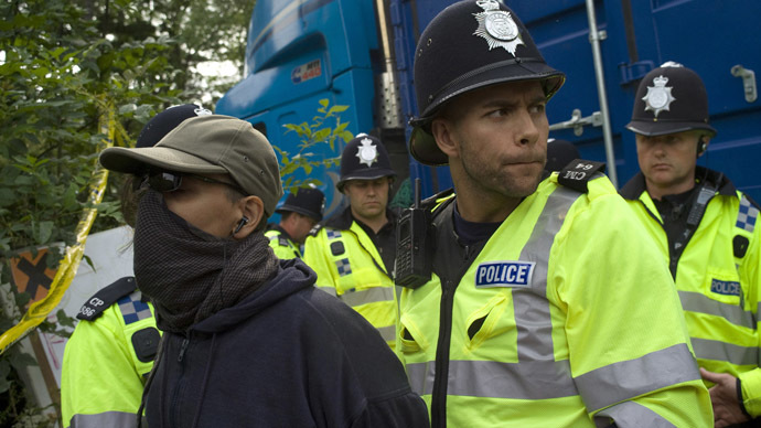 Fracktivists: At least 15 arrests at anti-fracking rally outside London