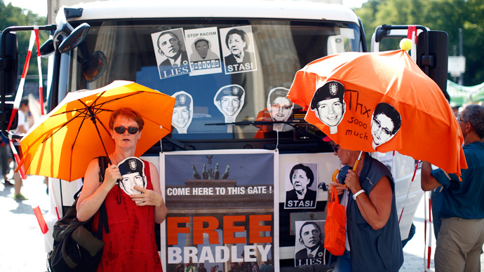 Protesters in 40 cities take part in Bradley Manning 'International Day of Action'