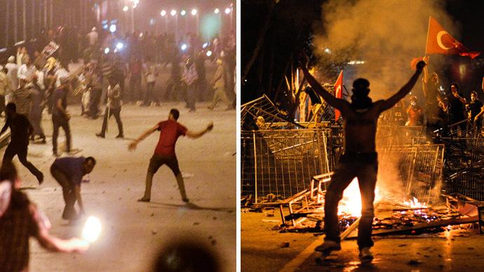 Erdogan lashes out at EU, UN over Egypt v Turkey unrest reaction
