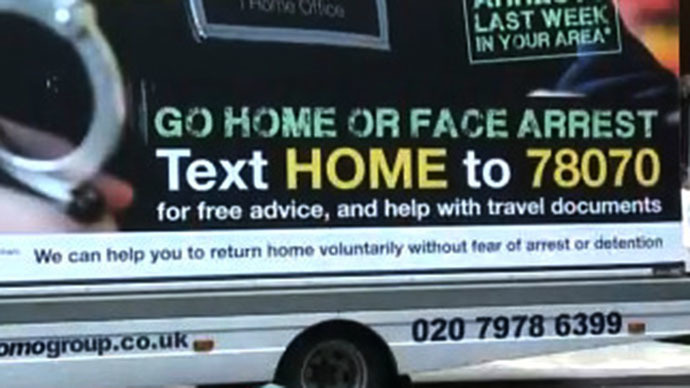 'Go Home Illegal Immigrants' campaign may spread UK-wide