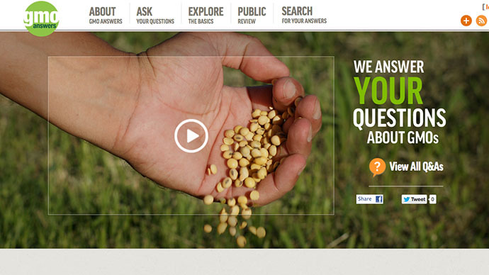 Monsanto-backed GMO giants launch website to combat anti-biotech sentiment
