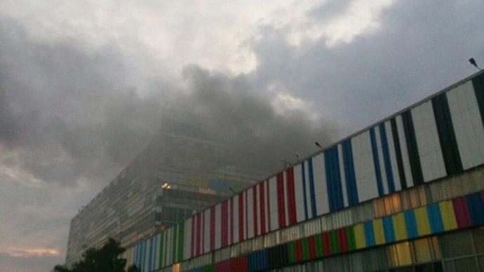 Fire breaks out at the Ostankino TV center in Moscow. (RIA Novosti/Vasiliy Konov)
