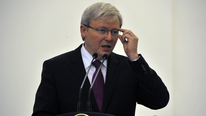 Australian Prime Minister Kevin Rudd (AFP Photo)