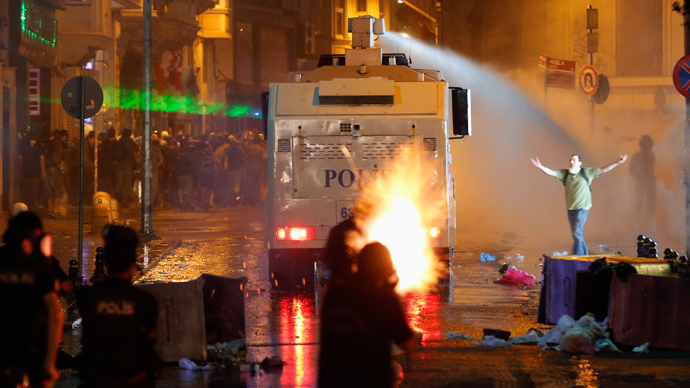 Istanbul police use tear gas to break up protest over critically injured teenager