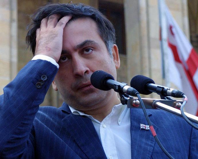 Georgian President Mikhail Saakashvili. (AFP Photo / Vladimir Valishvili)