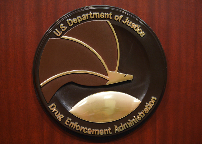 The seal of the Drug Enforcement Administration (AFP Photo / Mandel Ngan)