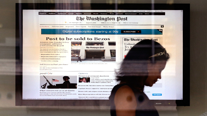 Washington Post sold to billionaire Amazon CEO