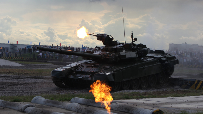 T-90 tank - like one of 150 Russia previously planned to supply to Saudi Arabia (RIA Novosti / Valeriy Melnikov)