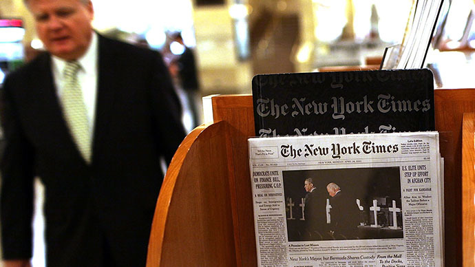NY Times denies rumors, says it is 'not for sale'