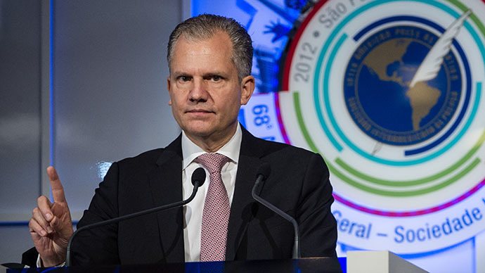 Arthur Sulzberger Jr., publisher of the New York Times (AFP Photo / Yasuyoshi Chiba)