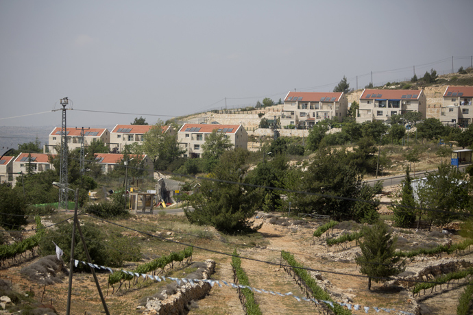 A partial view of the West Bank Jewish settlement of Beit El (AFP Photo)