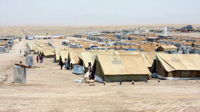 Refugee camp near Zakho, an Iraqi border town with Syria.(Reuters / Azad Lashkari)