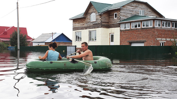 30,000 evacuated as floodwaters continue to swamp Russia's Far East