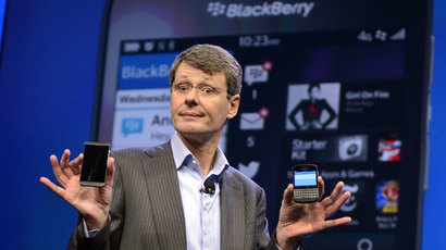 BlackBerry shares nosedive 16.4%, as smartphone maker calls off sale
