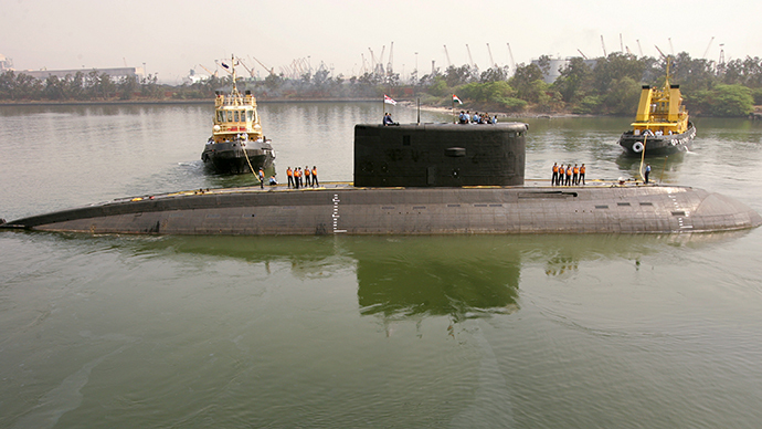 FILE PHOTO: Indian Navy's Sindhurakshak submarine is seen in Visakhapatnam (Reuters)