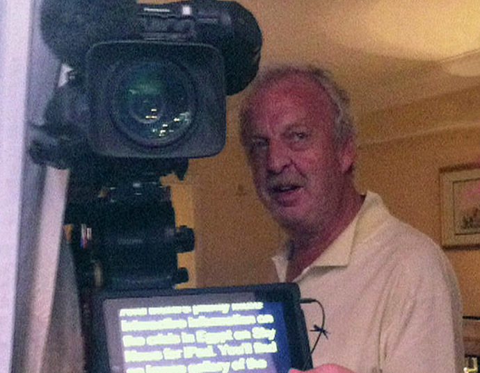 An undated handout picture taken at an undisclosed location and released by Sky News on August 14, 2013 shows Mick Deane, TV cameraman for Britain's Sky News who was shot and killed while covering violence in Egypt on August 14, 2013. (AFP/Sky News)