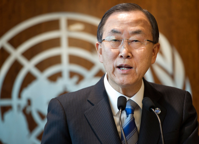 Ban Ki-moon (AFP Photo / HO / UN Photo / Mark Garten)