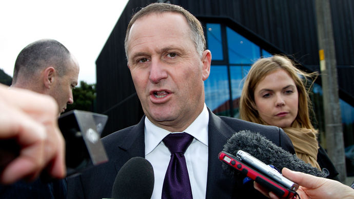 New Zealand Prime Minister John Key (AFP Photo / Marty Melville)
