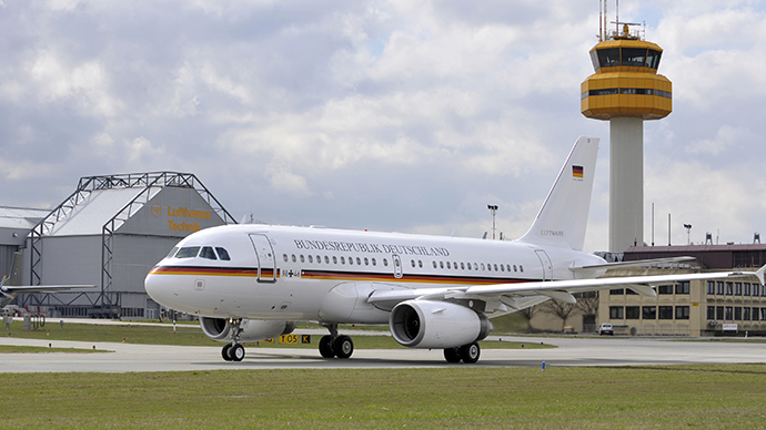 Air Farce 1: Drugged-up man in underpants eludes security to party on Merkel jet