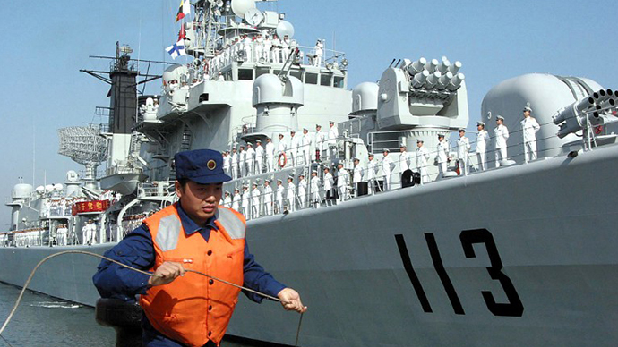 China dispatches ships for rare drills with US Navy