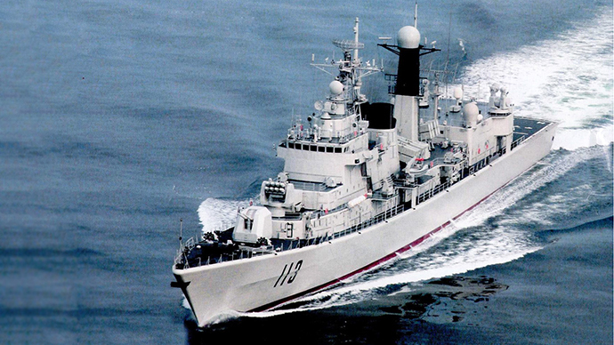 Chinese Type 052 Luhu class (113) Qingdao destroyer (Image from chinesemilitaryreview.blogspot.ru)