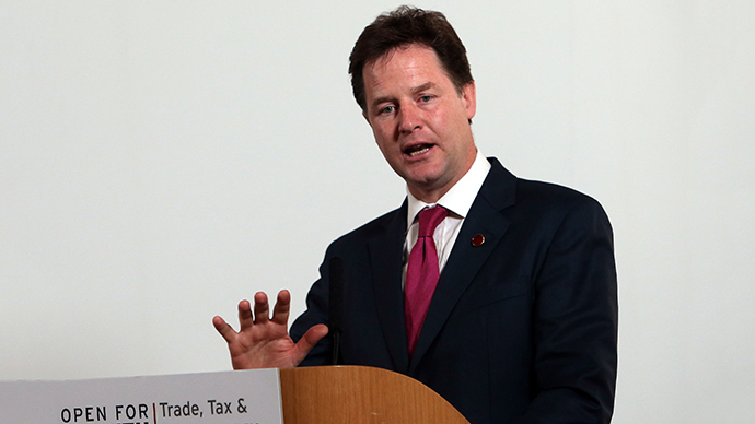 British Deputy Prime Minister Nick Clegg (AFP Photo / Steve Parsons)