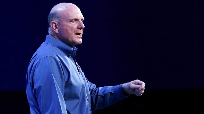 Microsoft CEO Steve Ballmer (Justin Sullivan/Getty Images/AFP)