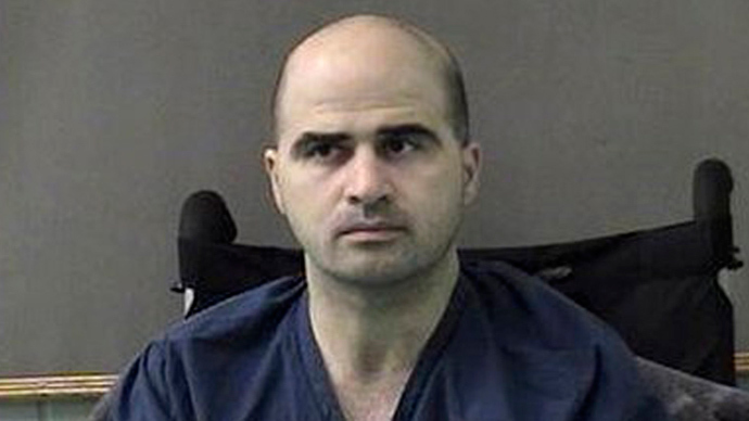 This photo released by the Bell County Sheriffs Department, shows US Major Nidal Hasan (AFP Photo)