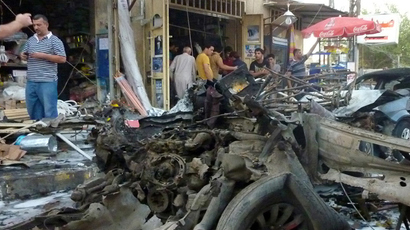 String of bombings kills nearly 60 people in Baghdad