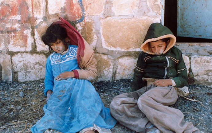 A handout picture dates March 16, 1988 and released by the Iranian official news agency IRNA shows two Kurdish children killed by an Iraqi chemical attack on the Kurdish city of Halabja in northeastern Iraq. (AFP Photo)