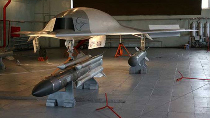 Russian MiG 'Scat' (Stingray) Unmanned Combat Air Vehicle (UCAV) (Image from wikimedia.org)